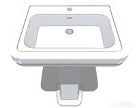 白色洗手台模型素材