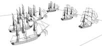 帆船团队SU模型
