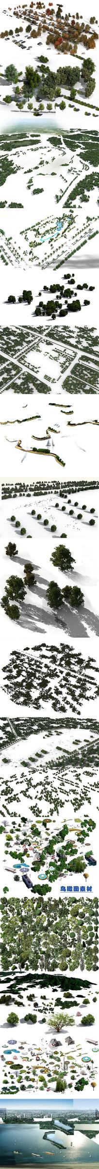 免抠景观园林后期PSD效果图