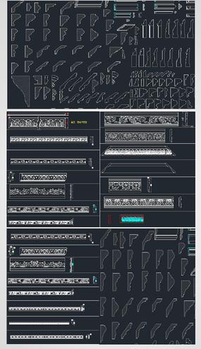 实木线条图CAD