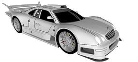 奔驰CLK GTR汽车模型