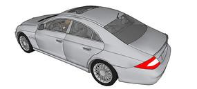 奔驰CLS 55 AMG汽车模型