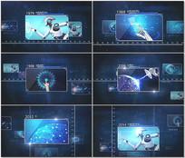 企业时间线科技照片展示AE视频模版