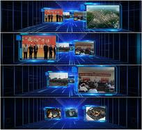 三维科技图文通道展示模版