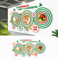 圆形企业学校食堂标语文化墙