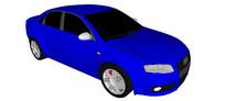 06奥迪RS4汽车SU模型