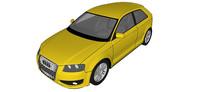 07奥迪S3汽车模型