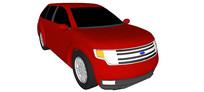 07福特Edge汽车模型