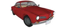 68年大众卡曼吉亚汽车模型