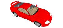 94丰田supra汽车模型