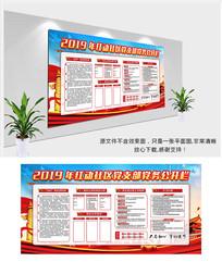 党务公开栏宣传栏展板设计