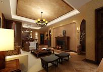 古典金色墙纸家装3D