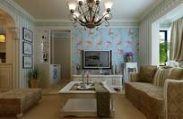 花花墙纸家装客厅3D