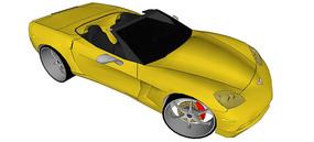 克尔维特C6汽车模型