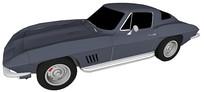 克尔维特汽车模型