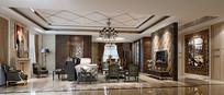 欧式奢华家装客厅3D模型