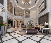 欧式奢华客厅室内3D