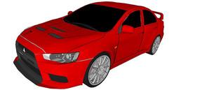 三菱EVO X汽车模型