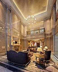 奢华欧式室内客厅3D模型