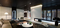 现代简约室内客厅3D模型