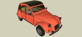 雪铁龙2CV汽车SU模型