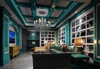 异域绿色家装客厅3D
