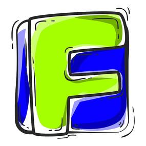 原创元素字母f