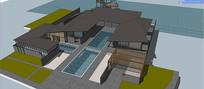 会所设计建筑模型