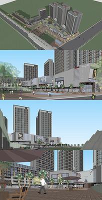 商业综合体建筑模型