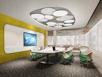 中型会议室效果图