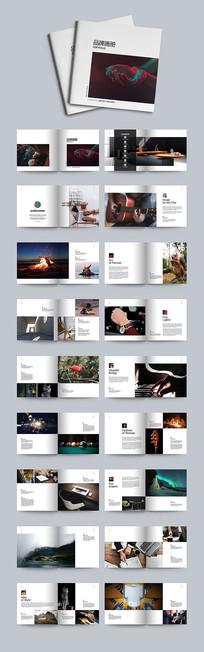 高端简约风格画册设计模板