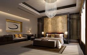 古典风味室内卧室3D模型