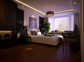 古典室内卧室3D模型