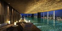 酒店室内游泳池效果图