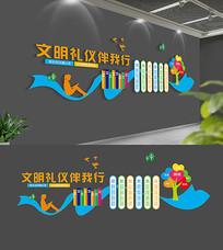 校园文明礼仪文化墙