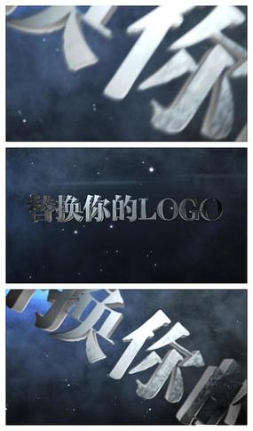 金属质感logo3维动画视频模板