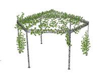 爬藤植物亭子模型