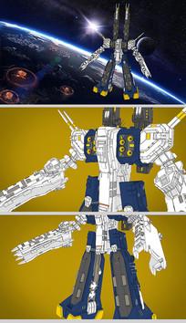 太空堡垒机器人SU模型