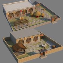 窑洞民宿3d模型