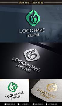 动感绿色环保G标志G字母标志