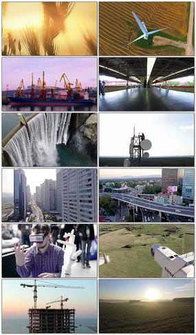 经济科技飞速发展视频素材