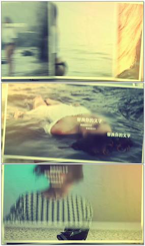 泛黄怀旧相册图文展示AE视频模板