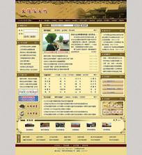 古典文化局网站首页模板