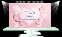 浪漫婚礼水牌海报
