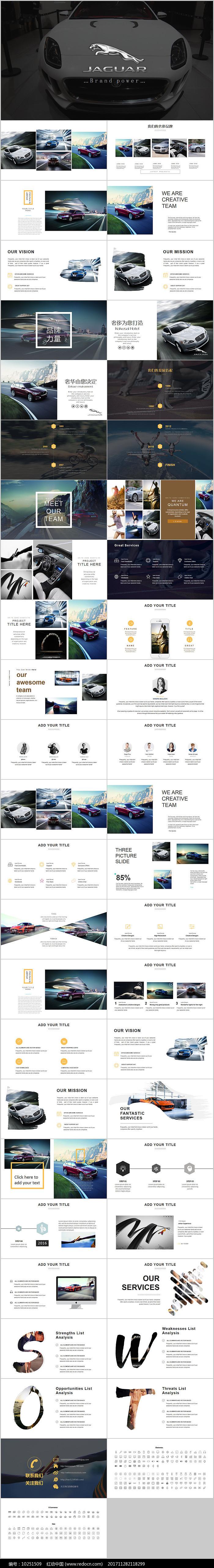 捷豹汽车营销商业计划PPT图片