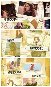 温馨浪漫旅游旅行相册AE模板