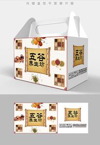 复古五谷杂粮包装礼盒设计