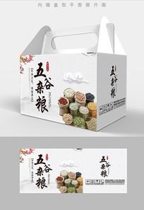 高端品质五谷杂粮包装礼盒设计PSD