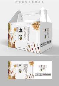 日式风格五谷杂粮包装礼盒设计PSD