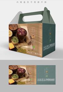 生态五谷杂粮包装礼盒设计PSD